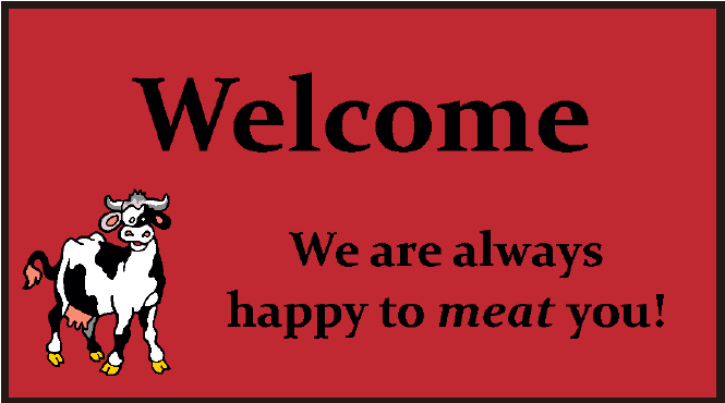 Butchers Logo mat Mat